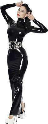 PräZise Westward Bound Proserpine Latex Hobble Dress Black