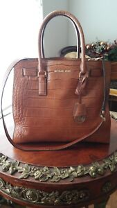 2f96244cd8d9 Image is loading NWOT-Authentic-Michael-Kors-Crocodile-Handbag-Shoulder-Bag