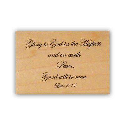 Glory to God mounted rubber stamp, religious Christmas bible verse CMS #7   eBay