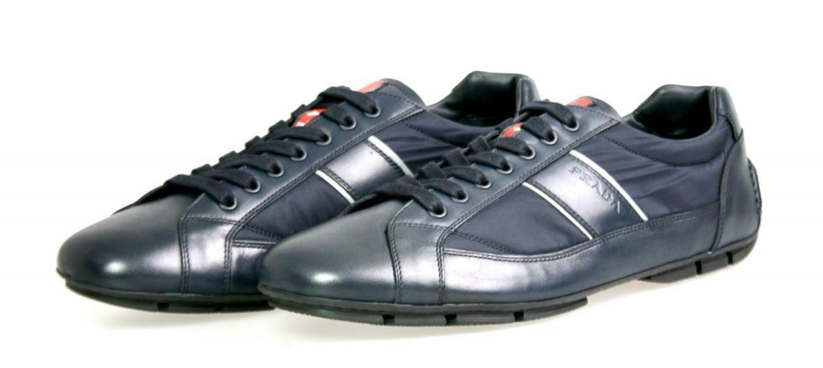 LUXURY PRADA MONTE CARLO SNEAKERS SHOES 4E2854 blueE NEW US 8