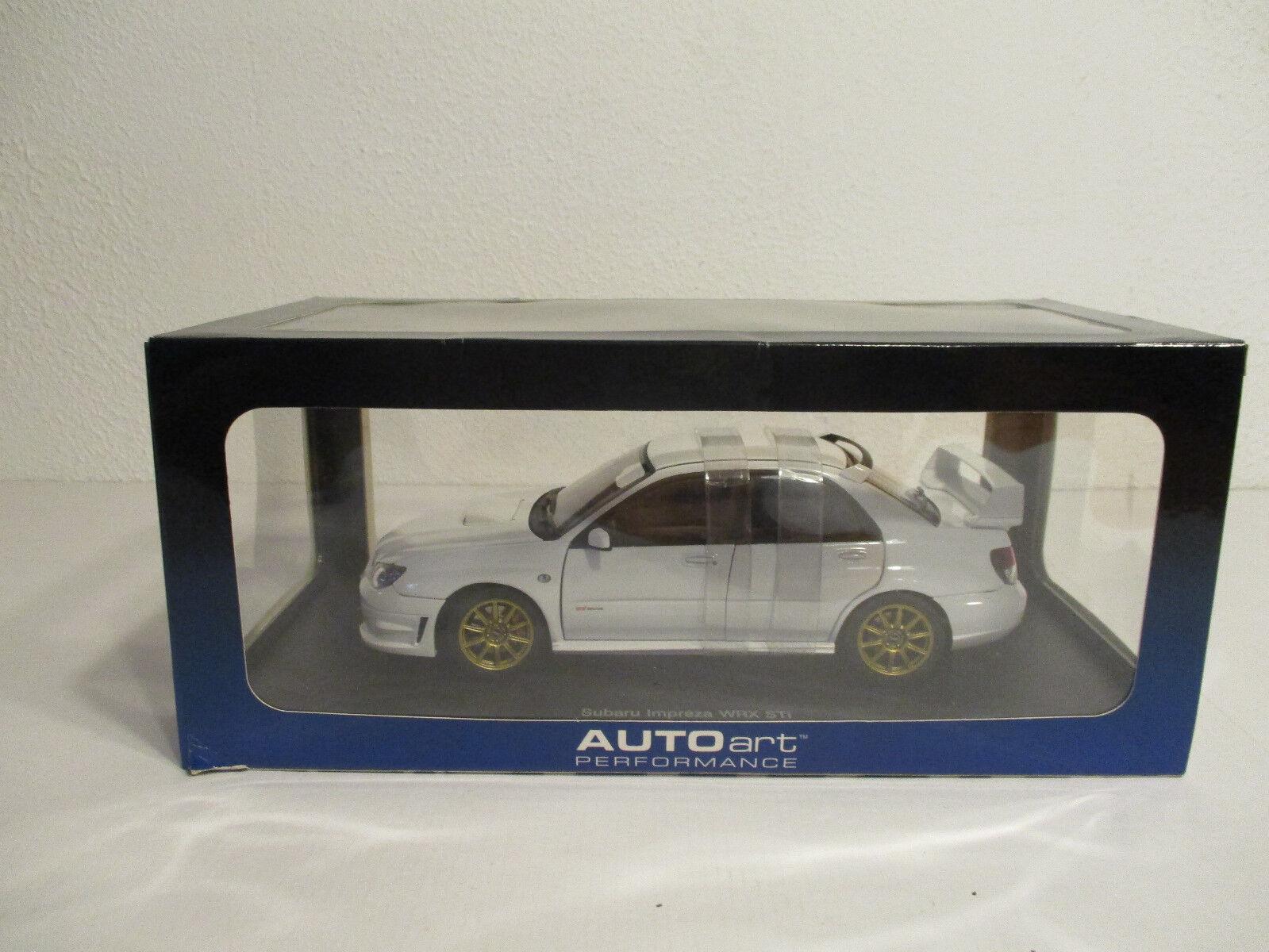 (Gok ) 1 18 Autoart Subaru Impreza Wrx Sti 2006 White Nip