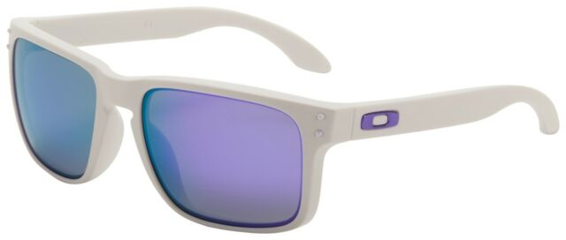 57c2844e28069 Oakley Holbrook Sunglasses OO9102-05 Matte White   Violet Iridium Lens    BNIB