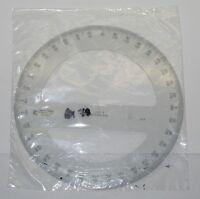 Lutz C-thru Ruler Circle Degree Design Drafting 6675-514-3544 Sealed