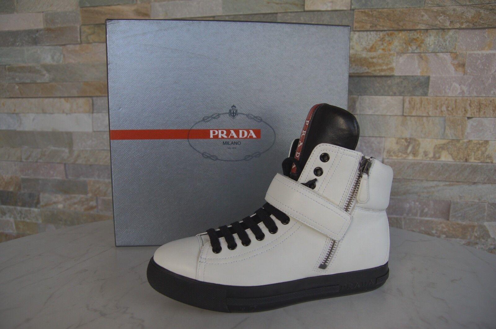 PRADA  35,5 schuhe Stiefeletten Booties High-Top Sneakers Schuhe schuhe 35,5 weiß neu 176166