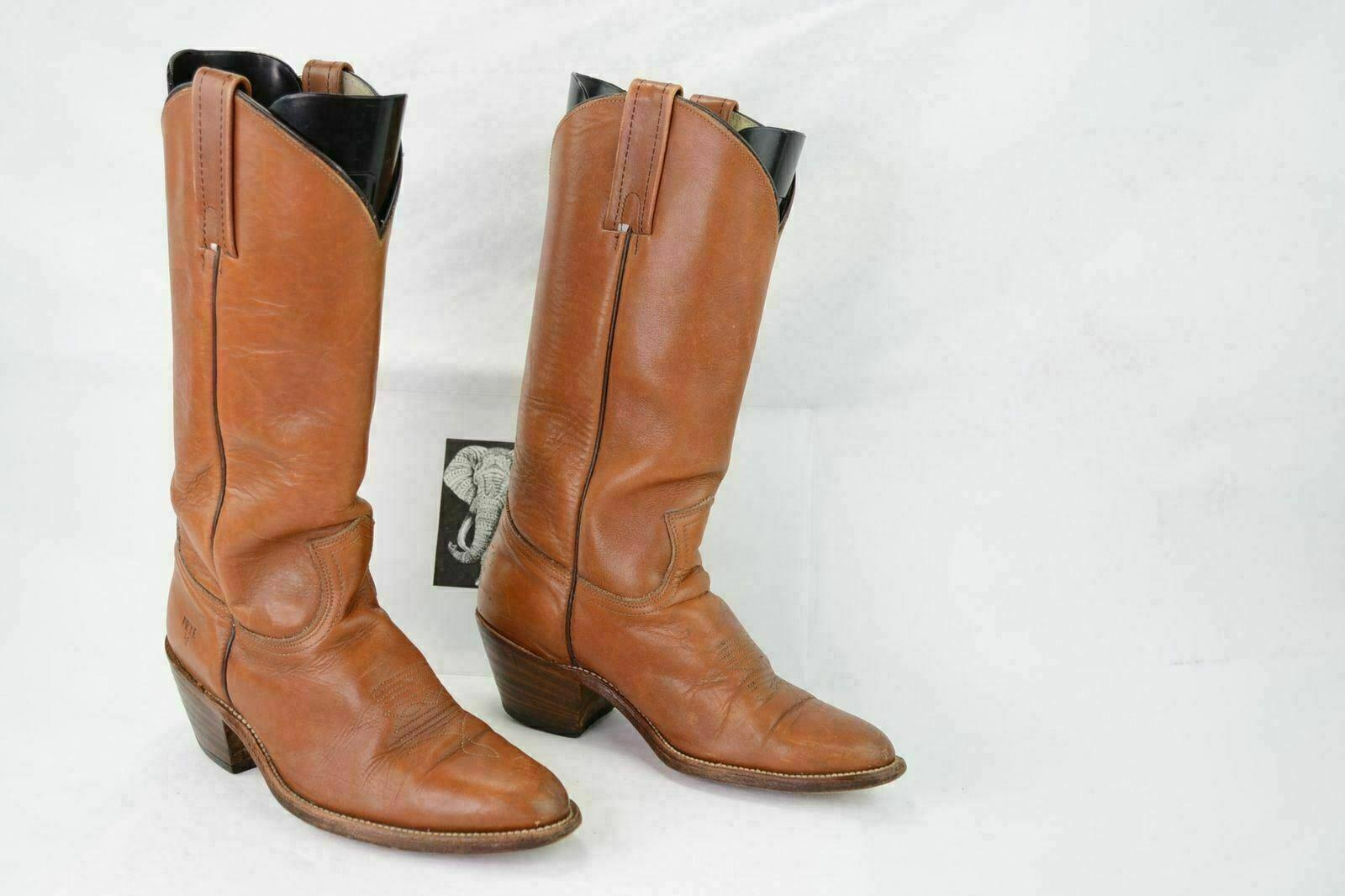Frye 3M27779 para hombre 8D Vintage Cuero Marrón cigarro Occidental botas De Vaquero A97