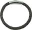 Lederarmband geflochten Edelstahl Druckverschluss 5 Farben  18-23cm Stärke 5mm