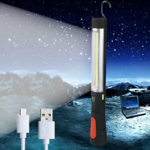 USB-Rechargeable-COB-LED-Emergency-Car-Work-Torch-Light-Lamp-Flashlight-Magnetic