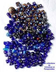 Diligent Perles En Pate De Verre Millefiori Et Cubes Decores Bleu Fonce *