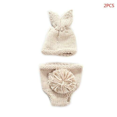 Newborn Crochet Knit Costume Photography Prop Easter Rabbit Photo Outfits Photo
