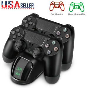 FOR-PS4-Playstation4-Wireless-Controller-Fast-Charging-Station-Dual-USB-Charger
