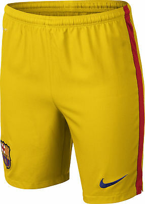 Nike Junior Fc Barcelona Away Football Shorts Yellow Kids Boys Ages 8-15 Schnelle WäRmeableitung