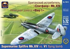 ARK MODELS 72012 SUPERMARINE SPITFIRE MK.XIV VS V1 FLYING BOMB WWII 1/72 NEW