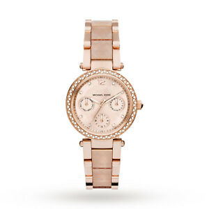 e2c20ed4b5da Michael Kors MK6574 Mini Parker Rose Gold Blush Wrist Watch for ...