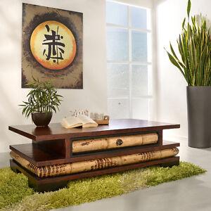 sofatisch aus bambus eco couchtisch beistelltisch holz tisch glas wohnzimmer ebay. Black Bedroom Furniture Sets. Home Design Ideas