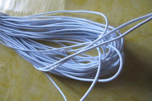 auf lager Mundbedeckung  Rundgummi Gummikordel Gummilitze Masken 2 mm 5m 95°