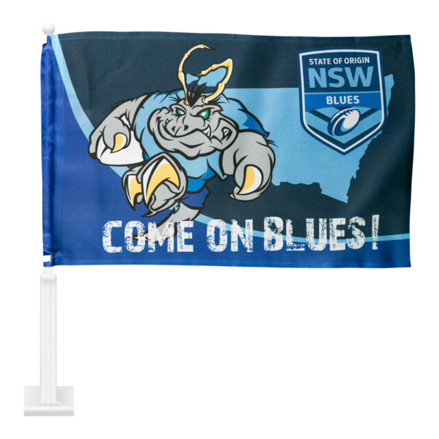 NRL State of Origin NSW Blues CAR Flag Banner for Man Cave, Bike, Ride on Mower