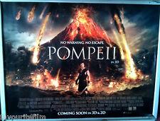 Cinema Poster: POMPEII 2014 (Quad) Carrie-Anne Moss Kiefer Sutherland Joe Pingue
