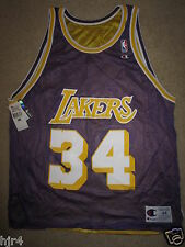 Shaquille O'neal Shaq Los Angeles Lakers NBA Champion Reverse Jersey LG L 44 New