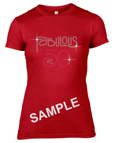 /'Fabulous at 60/' Rhinestone//Diamante Transfer Hotfix Iron on Motif Free Gift