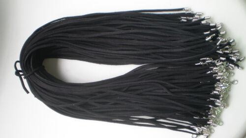 Wholesale Bulk 10 pcs black Suede Leather String 20inch Necklace Cords Chain