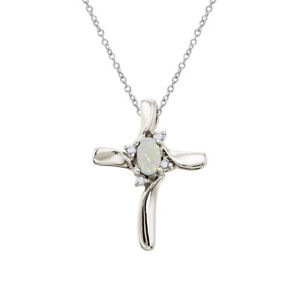 10k-White-Gold-Opal-and-Diamond-Cross-Pendant-with-18-034-Chain