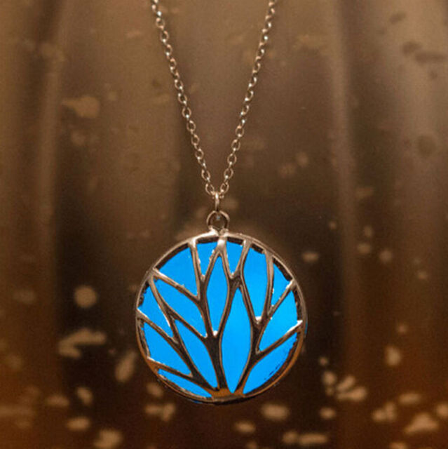 luminous Steampunk Pretty Magic Fairy Locket Glow In The Dark Pendant Necklace