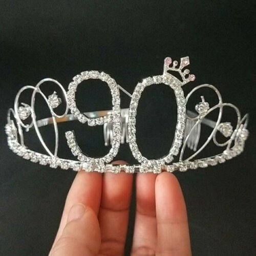 Women Birthday Party Princess Crystal Hair Tiara Bridal Crown Headband Gift