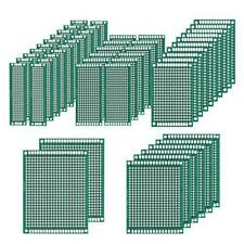 50 Pcs Double Sided Pcb Board Prototype Kit Soldering 5 Sizes Universal Printed