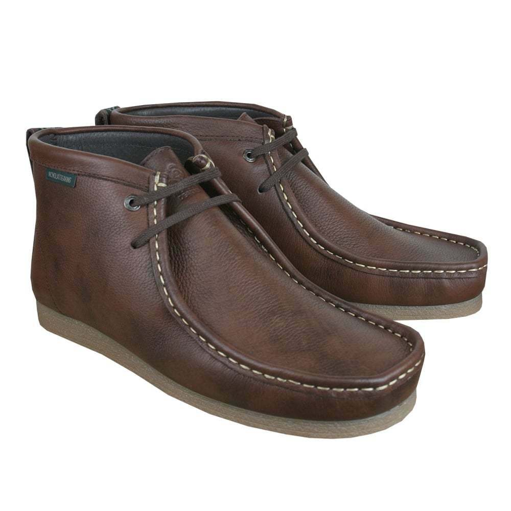 Nicholas Deakins Stones 3 Leather Boots Brown