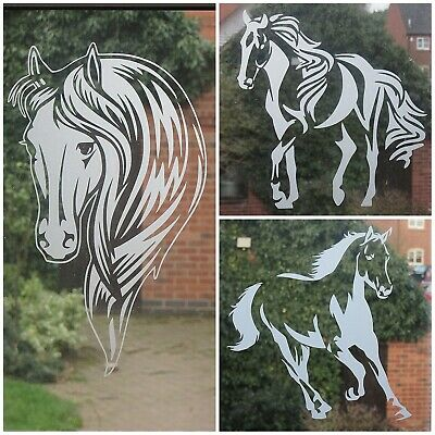 Carousel horse VINYL DECALS stickers gift glass party diy animal wine