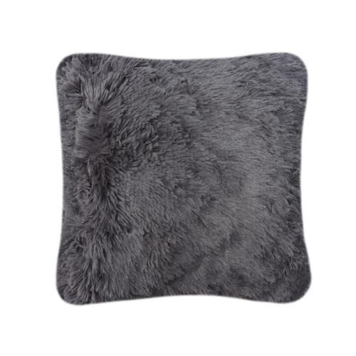 SNUG HUG Soft Fluffy Faux Fur Sofa Throw Bedspread Blanket Double Cushion Cover