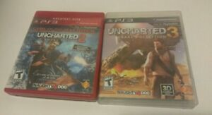 Playstation 3 Game Lot Uncharted 2 & 3 PS3