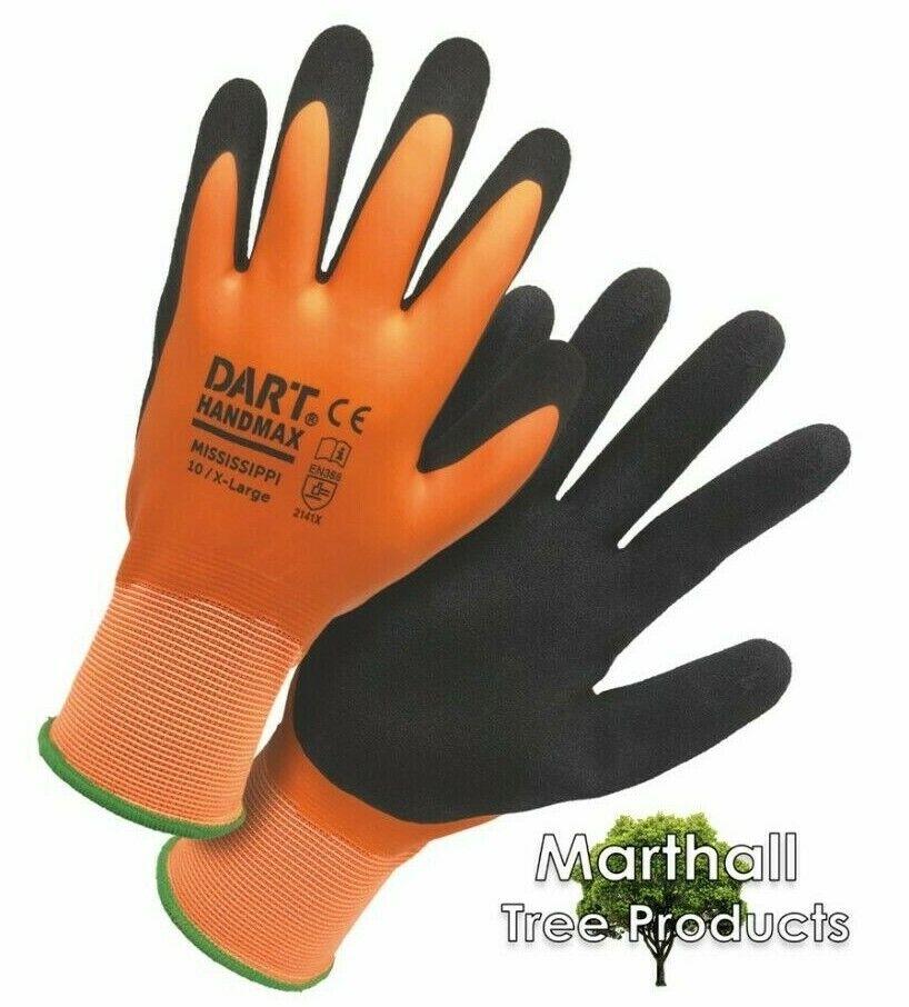 **OFFER** DART Handmax Mississippi Orange Waterproof Latex Gloves XL (10 pairs)