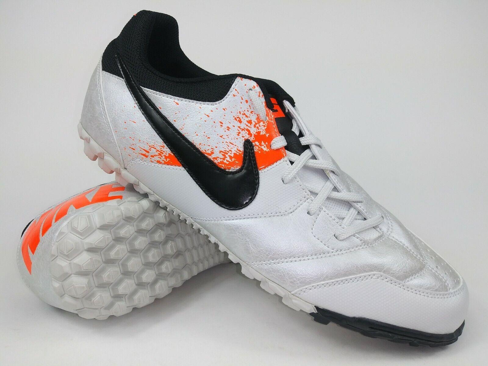 Nike Hombre Raro césped Nike 5 bomba 415130-108 blancoo Naranja Fútbol Zapatos Talla 8.5