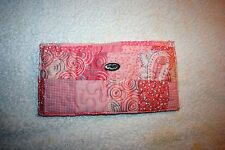 DONNA SHARP Passion Pink Quilted Pattern Slotted Wallet