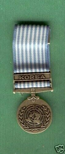 miniature UNITED NATIONS SERVICE MEDAL KOREA
