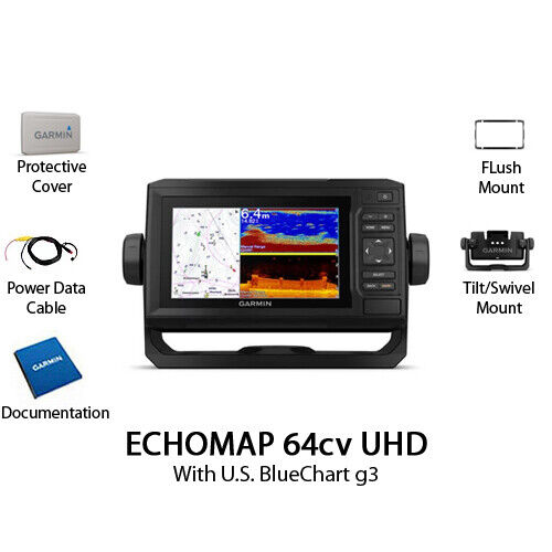 Garmin ECHOMAP UHD 64cv Chartplotter/Fishfinder Without Transducer 010-02331-00