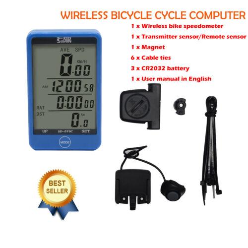 Funk Fahrradcomputer Fahrradtacho Tacho Rad Fahrrad Tacho Kabellos LCD