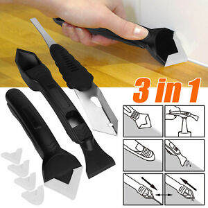 3 in1 Silicone Scraper Remover Caulk Finisher Sealant Smooth Grout Tools Kit US