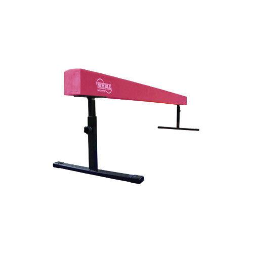 Nimble Sports New Pink Suede Adjustable Gymnastics Balance Beam - 8 Feet Long