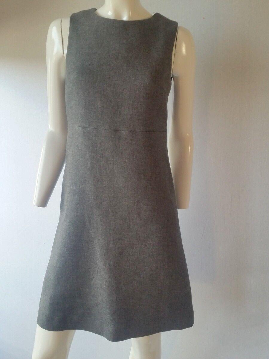 HALLHUBER Kleid Wolldouble mittelgrau-melange Gr.34 38 40 42UK6 10 12 14NEU