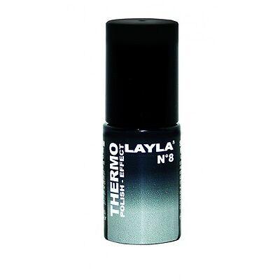 LAYLA THERMO EFFEKT NAGELLACK - BLACK TO GREY 08 - NEU