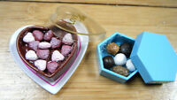DOLLS HOUSE MINIATURE FOOD BOX OF CHOCOLATE 2 DESIGNS SWEETS 1/12th SCALE UKSELL