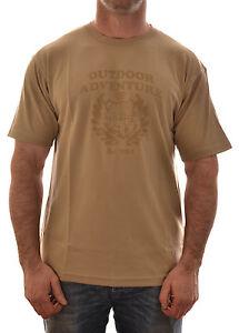 Regatta-pour-hommes-protection-T-shirt-manches-courtes-ras-de-cou-sel-mer-beige