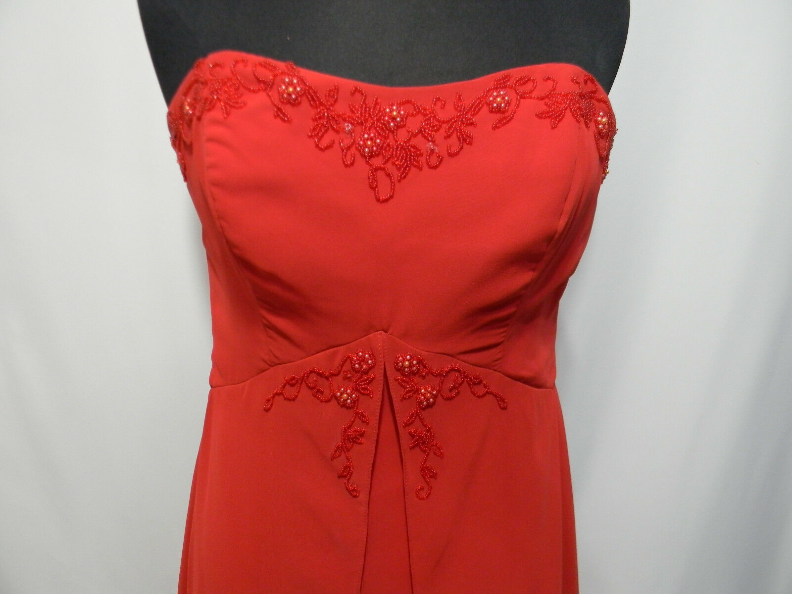 7eceeb4577b ... Alfred Angelo Red Strapless Formal Gown Dress Women s Size Size Size 12  New NWT Bridesmaid bf109a ...