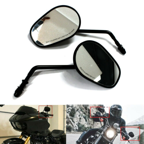 Tapered Motorcycle Rearview Side Mirrors For Harley FLHX Street Glide