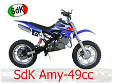 Minimoto Cross Natale SDK AMY SKM 49cc pit bike 2 tempi BLUE
