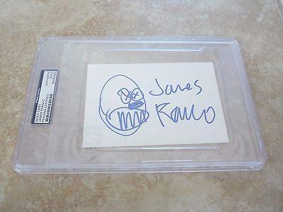 Autographs-original James Franco Signed Autographed 4x6 Index Card Psa Certified & Slabbed W/ Sketch