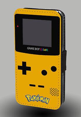 Pokemon Game Boy Color Atari 80 Retro Mario Leather Phone Case Pocket Flip Cover