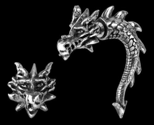 Gothic Schmuck Fantasy Tor Dragon Alchemy Drachen Ohrring